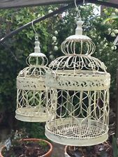 A Pair of Birdcage Style Hanging Baskets  Shabby  Chic French Style