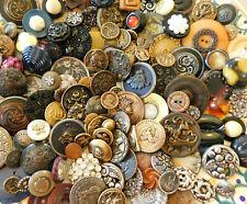 Antique Vintage button lot~177 Picture~brass~Glass~plastic~celluloid~Metal+