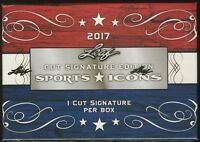 2017 Leaf Sports Icons Cut Signature Edition SEALED HOBBY BOX