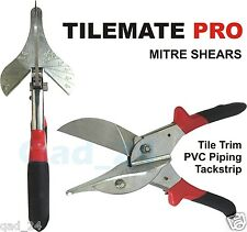Tile Mate Pro Mitre Shears Multi Angled Anvil Cutters Upvc Trim Gasket Pipe