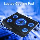 Portable USB Laptop Cooling Pad LED 5 Fans Cooler Adjustable PC Cooler pad Stand