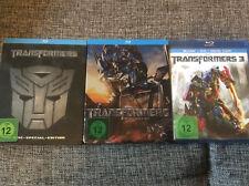 Transformers 1 (Steelbook)+ 2 Die Rache (Steelbook)+ 3 (+DVD)[3 BLU RAY ]