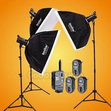 Godox DS300 X3 900W Studio Flash Strobe Light 60x90cm Softbox Kit w/ FT-16 110V