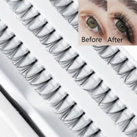 Pro 60 Stands Individual False Eyelashes Thick long Cluster Flare Volume Lashes