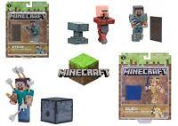 "Minecraft 3"" Action Figure Toy Golem Diamond Steve Alex Villager Blacksmith"