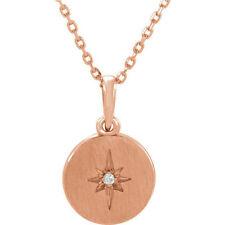 "Diamond Starburst 16-18"" Necklace In 14K Rose Gold (.08 ct. tw.)"