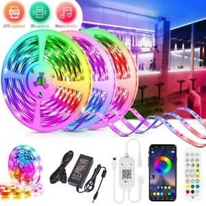 RGB LED Strip Lights IP65 Waterproof 5050 10M 20M 30M Bluetooth APP Controller