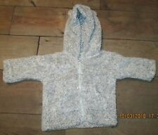 F&F BABY GIRL GREY FLEECE HOOD WITH EARS JACKET - AGE 0-3 MONTHS - NEW NO TAGS