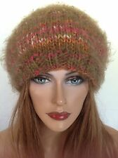Beanie Slouch Beret Hat Hand Knit Designer Fashion Hip Chic