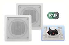 """E-audio pro résistant à l'eau 4 """"voie 2 haut-parleurs de plafond paire (8 ohms 70 W) #B 414"""