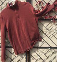 J Crew Men's Medium Sweater Top Quarter Zip Up Soft 100% Cotton L/S