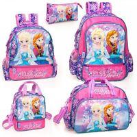 Disney Frozen Backpack Rucksack Lunch Bag Girls School Travel Nursery Elsa Anna
