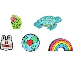 NEW Come As You Are- It's Our World 5pk Croc Jibbitz Charms Rainbow Earth Turtle