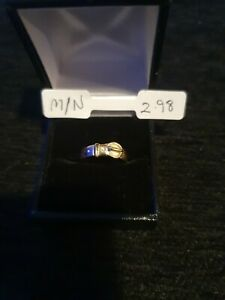9ct Yellow Gold Buckle Ring 2.9g size M/N
