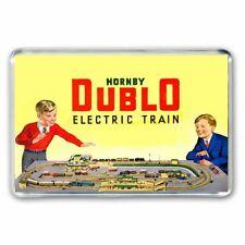 RETRO HORNBY DUBLO TRAIN SET  ADVERT JUMBO FRIDGE /LOCKER MAGNET