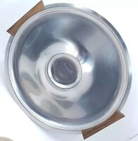 "Mid-Century Modern Danish 12"" Chrome hors d'oeuvres Tray with Mahogany Handles"