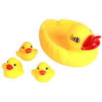 4Pcs yellow rubber ducks bath toy water play baby kids toys pl