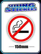 NO SMOKING SIGN STICKER DECAL LARGE 150mm NON SMOKERS BNIP CHEAP FREE SHIPPING
