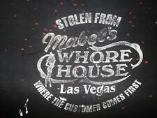 Vtg MABEL'S WHORE HOUSE Distressed TRASHED Rocker TRUCKER Harley Biker T-SHIRT