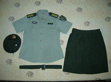 Obsolete 07's China PLA Army Woman Officer Summer Short-sleeved Uniform,Set,A