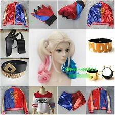 Suicide Squad Daddy's Lil Monster Coat Jacket Harley Quinn Halloween Costume Lot