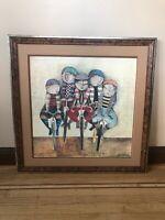"""Graciela Rodo Boulanger """"Tour de France""""  Lithograph NEWLY CUSTOM FRAMED ART"""