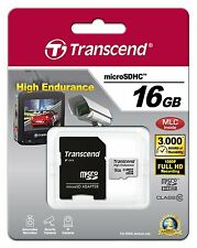 GENUINE Transcend High Endurance 16GB micro SDHC Card with Adapter Class10 MLC