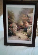 Rose Gate by Thomas Kinkade in 7.5x5.5 Wall or Tabletop Frame