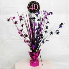 Pink 40th Birthday Table Decoration Centrepiece Spray Cascade  Weighted 33cm