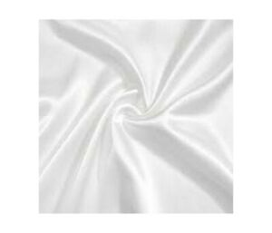 "WHITE LIQUID SATIN POLYESTER LINING FABRIC BRIDAL WEDDING PROM 60"" WIDTH"