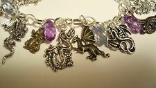 "Shinedesigns, ""Dragon'S Breath"" Bracelet, Chain Silver 8.5"" Myth Castle Magic"