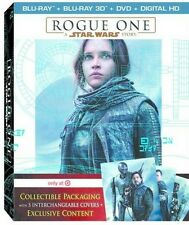 NEW + SEALED Rogue One: Star Wars Story Target Exclusive 3D Blu-ray DVD 5 Covers