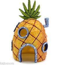 "SpongeBob 6"" PINEAPPLE HOUSE Aquarium Decoration Oranment *US SELLER* Penn Plax"