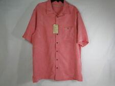 Men's Caribbean Short Sleeve Hawaiian Shirt Coral Salmon Big & Tall Size LT