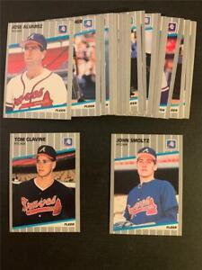 1989 Fleer Atlanta Braves Team Set 25 Cards With Update John Smoltz RC