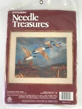"""Wilderness Canada Geese Needle Treasures Crewel Embroidery Kit 20""""x16"""" NEW (88)"""