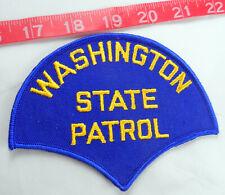 "Washington State Patrol 5-1/8"" across Cloth Patch Blue Background"