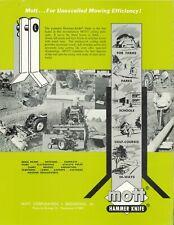 Mott Hammer Knife Belly Mower Color Sales Brochure Ih Farmall Cub Tractor 1pt