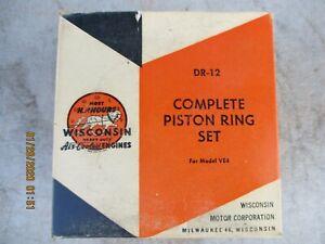 Wisconsin Engine Motor DR-12 Complete Piston Ring Set for Model VE4 NOS