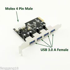 PCI-E to 4 Port USB 3.0 HUB VL805 Chipset PCI Express Card Adapter 5 Gbps Speed