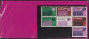 1971 Australian Last Christmas Post Office Stamps Pack 7x7c Third Block variety