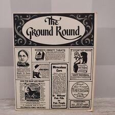 Vintage The Ground Round Restaurant Original Laminated Menu Rockford, IL