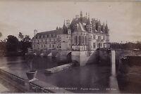 Castello Di Chenonceau E 2 Foto Doppio / Verso Vintage Ca 1880