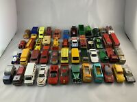 Matchbox & Corgi Bundle Job Lot - VINTAGE CARS - X48 Cars Ideal For Restoration!