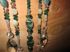 GORGEOUS Horseshoe Suncatcher W/ 5 Strands of Crystal/Agate/Glass Glass Beads
