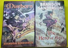 Mistborn The Hero of Ages and The Final Empire SIGNED by SANDERSON Hardback 1st