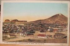 Montana Postcard VIEW IN BUTTE MONT School of Mines Big Butte Overview 1930s