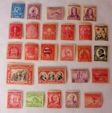 Vintage US Postage 1, 3 & 5 Cent Stamps 1929 - 1933 Unused