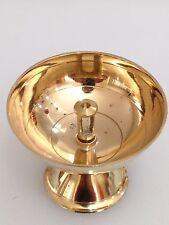 Big Pyali Diya Deep Brass Oil Lamp Deepam Religious Puja Diwali -USA Seller