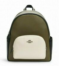 New Coach C2797 Court Backpack in Colorblock Pebble Leather Kelp multi